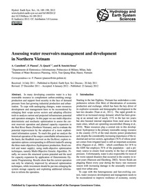 Assessing Water Reservoirs Management an... by Castelletti, A.
