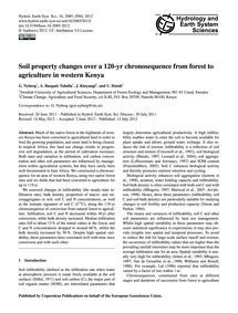 Soil Property Changes Over a 120-yr Chro... by Nyberg, G.