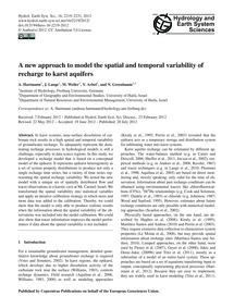 A New Approach to Model the Spatial and ... by Hartmann, A.