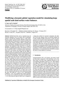 Modifying a Dynamic Global Vegetation Mo... by Tang, G.