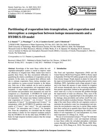 Partitioning of Evaporation Into Transpi... by Sutanto, S. J.