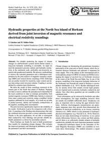Hydraulic Properties at the North Sea Is... by Günther, T.