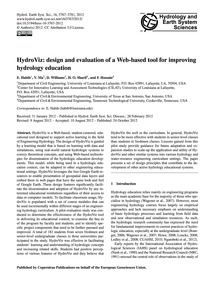 Hydroviz: Design and Evaluation of a Web... by Habib, E.
