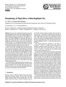 Morphology of Tigris River Within Baghda... by Ali, A. A.