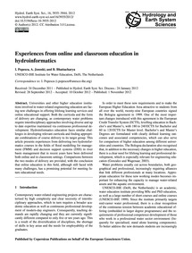 Experiences from Online and Classroom Ed... by Popescu, I.