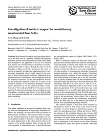 Investigation of Solute Transport in Non... by Chang, C.-m.