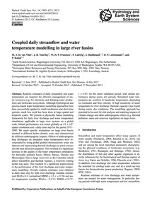 Coupled Daily Streamflow and Water Tempe... by Van Vliet, M. T. H.