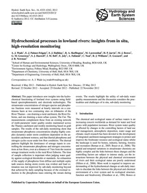 Hydrochemical Processes in Lowland River... by Wade, A. J.