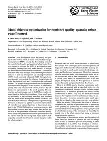 Multi-objective Optimization for Combine... by Oraei Zare, S.