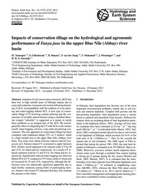 Impacts of Conservation Tillage on the H... by Temesgen, M.