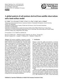 A Global Analysis of Soil Moisture Deriv... by Rebel, K. T.