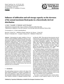 Influence of Infiltration and Soil Stora... by Gioia, A.