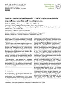 Snow Accumulation/Melting Model (Samm) f... by Martelloni, G.