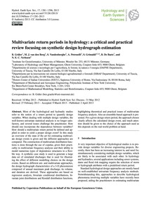 Multivariate Return Periods in Hydrology... by Gräler, B.