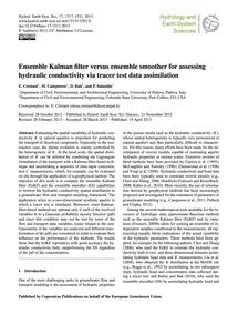 Ensemble Kalman Filter Versus Ensemble S... by Crestani, E.