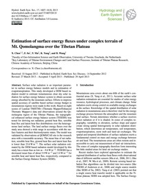 Estimation of Surface Energy Fluxes Unde... by Chen, X.