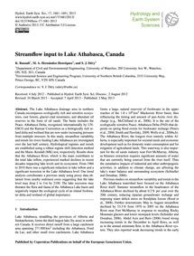 Streamflow Input to Lake Athabasca, Cana... by Rasouli, K.