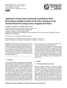 Application of Data-based Mechanistic Mo... by Leedal, D.