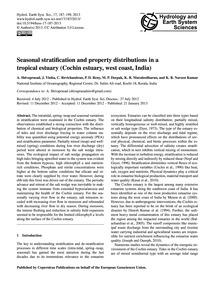 Seasonal Stratification and Property Dis... by Shivaprasad, A.