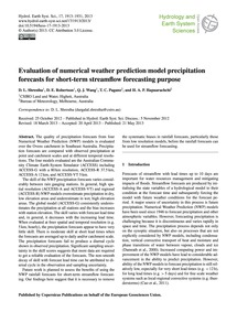 Evaluation of Numerical Weather Predicti... by Shrestha, D. L.
