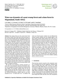 Water-use Dynamics of a Peat Swamp Fores... by Clulow, A. D.