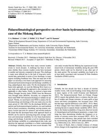 Palaeoclimatological Perspective on Rive... by Räsänen, T. A.