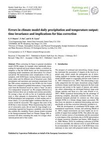 Errors in Climate Model Daily Precipitat... by Maurer, E. P.