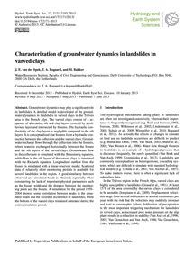 Characterization of Groundwater Dynamics... by Van Der Spek, J. E.