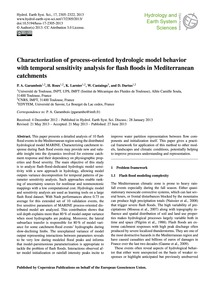 Characterization of Process-oriented Hyd... by Garambois, P. A.