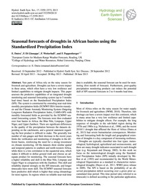 Seasonal Forecasts of Droughts in Africa... by Dutra, E.