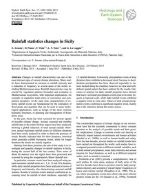 Rainfall Statistics Changes in Sicily : ... by Arnone, E.