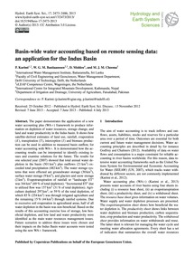 Basin-wide Water Accounting Based on Rem... by Karimi, P.
