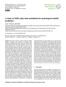A Study on Wrf Radar Data Assimilation f... by Liu, J.