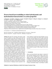 Process-based Karst Modelling to Relate ... by Hartmann, A.