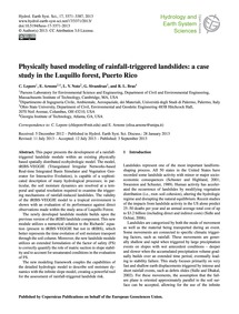 Physically Based Modeling of Rainfall-tr... by Lepore, C.