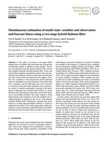 Simultaneous Estimation of Model State V... by Pauwels, V. R. N.