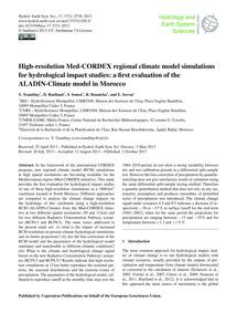 High-resolution Med-cordex Regional Clim... by Tramblay, Y.