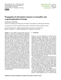 Propagation of Soil Moisture Memory to S... by Orth, R.