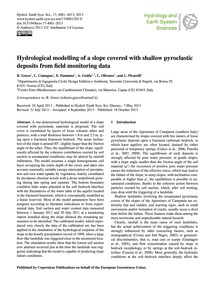 Hydrological Modelling of a Slope Covere... by Greco, R.