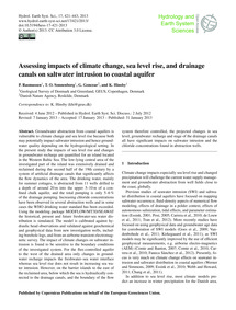 Assessing Impacts of Climate Change, Sea... by Rasmussen, P.