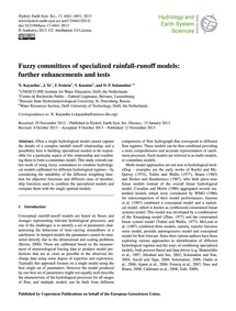 Fuzzy Committees of Specialized Rainfall... by Kayastha, N.