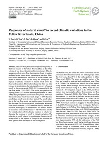 Responses of Natural Runoff to Recent Cl... by Tang, Y.