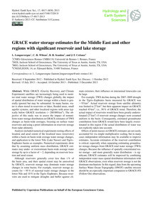 Grace Water Storage Estimates for the Mi... by Longuevergne, L.