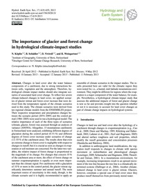 The Importance of Glacier and Forest Cha... by Köplin, N.