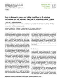 Role of Climate Forecasts and Initial Co... by Sinha, T.