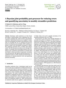 A Bayesian Joint Probability Post-proces... by Pokhrel, P.