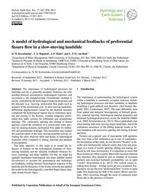 A Model of Hydrological and Mechanical F... by Krzeminska, D. M.