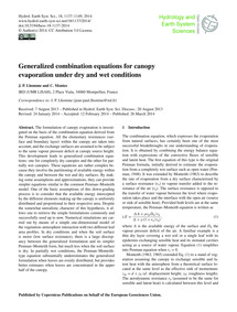 Generalized Combination Equations for Ca... by Lhomme, J. P.