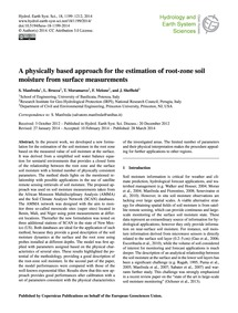 A Physically Based Approach for the Esti... by Manfreda, S.