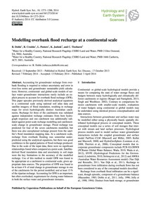 Modelling Overbank Flood Recharge at a C... by Doble, R.
